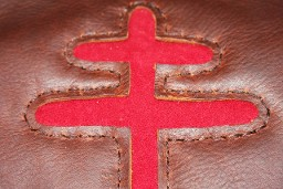 cross of Lorraine pouch, click to order